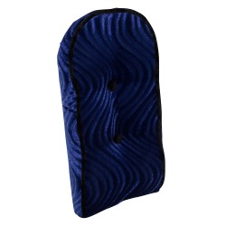 Sissy Bar Back Cushion Velour Blue