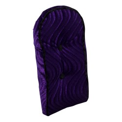 Sissy Bar Back Cushion Velour Purple