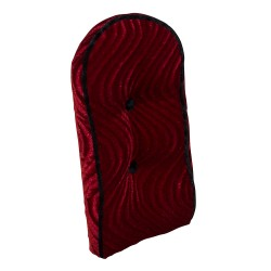 Sissy Bar Back Cushion Velour Red