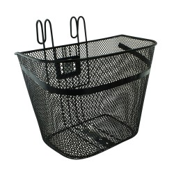 Steel Mesh Basket Black