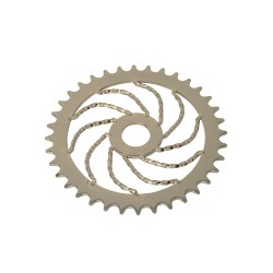 36T Twisted Sprocket Gold