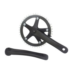 Alloy 8106 Chainwheel Set 44Tx170Mm Black
