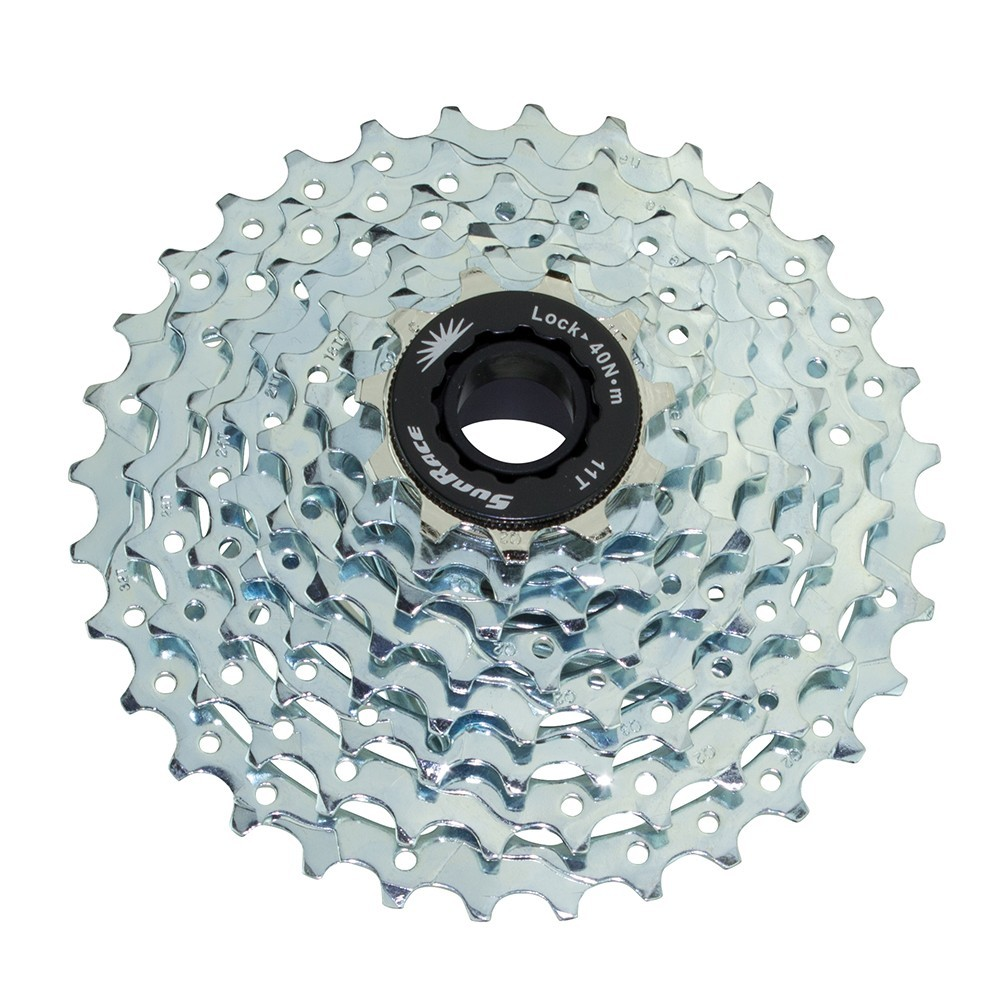 8 Speed Cassette 11/32T Index Csm-53 Nickel Sun Race
